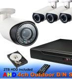 1080P/960p/720p Câmara Bullet com todos em um Monitor Kit DVR 8CH