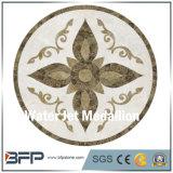 Medaglione di marmo di pietra del pavimento del marmo e del Onyx del getto di acqua di figura rotonda per il progetto della villa