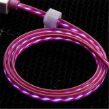 Зарядный кабель данным по USB мигающего огня TPE СИД для iPhone, Samsung знонит по телефону