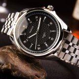 Quarz-Form-Uhr-Edelstahl-Rückseiten-Uhren der Mann-331-S