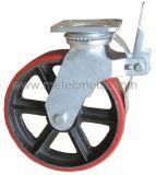 Fußrollen-Rad für Baugerüst (PU, Kurbelgehäuse-Belüftung, Gummi)