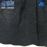 Il manicotto lungo nero intasca la camicetta sexy di modo del V-Collo di prospettiva