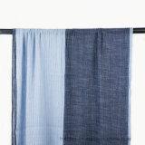 Écharpe tissée d'été de couleur de contraste dans le coton de toile (H02)
