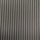 Tecido de memória de imitação de listra horizontal vertical preto e branco de 75D para casacos