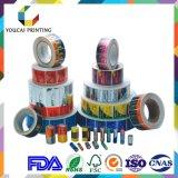 Kundenspezifischer Peinted selbstklebender Papierkennsatz für Flasche