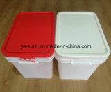 Novo tipo 2016 cubeta plástica retangular 25L do produto comestível dos PP para o empacotamento de alimento