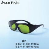 Óculos de Segurança de laser Ady com marcação proteger 740- 1100nm de comprimento de onda para Alexandrite, 755nm/1064nm 808&980nm Díodos, ND: YAG
