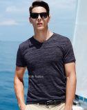 T-shirt à séchage rapide d'homme de muscle de forme physique de polyester de T-shirt