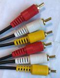 Kabel RCA, 3RCA Stop aan de Kabel AV/TV/RCA 3RCA van de Stop (3r-3r)