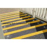 Escalera antirresbaladiza que olfatea, pisadas Grating de la fibra de vidrio, sospecha antideslizante de FRP/GRP de la cubierta