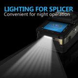 Splicer de fibra óptica certificado CE da fusão da confiabilidade elevada do incêndio de sinal