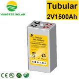 2V 1500ah tubulaire à cycle profond de la batterie du système solaire