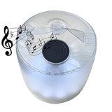 Lanterne solaire de lampe solaire gonflable neuve de l'arrivée DEL avec le haut-parleur imperméable à l'eau de Bluetooth