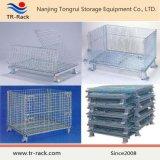 Stackable гальванизированная стальная клетка хранения ячеистой сети пакгауза