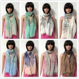 De Polyester van 100%, de Materiële Multifunctionele Sjaal van de Voile met Druk
