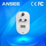 en el interruptor sin hilos elegante estándar del enchufe de potencia para controlar los equipos de hogar