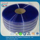Tira com nervuras dobro azul energy-saving da porta da cortina do PVC do plástico