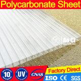 Strato di plastica 4mm/6mm/8mm/10mm/12mm del policarbonato della cavità dello strato della serra per 10 anni di garanzia