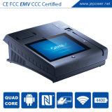 Terminal Android do pagamento da posição do leitor de cartão do crédito de Bluetooth com impressora e impressão digital