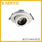 Alliage d'aluminium 360 lumière de nez incluse du plafonnier de degré par 18W DEL