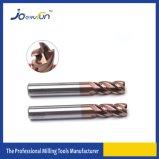 As flautas contínuas do carboneto 4 de HRC 55 encurralam o moinho de extremidade do raio