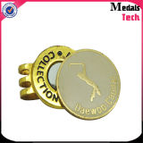 Atacado Custom Golf Bulk Gold Plating Metal Ball Markers