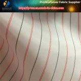 人のスーツまたは衣服(S114.116)のためのピンクの安いポリエステル縞のライニングファブリック