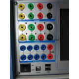 Dispositif de test de protection de relais à micro-ordinateur à trois phases