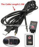 Auto Boat Audio Dash Flush Mount USB 3.5mm Adaptateur de montage auxiliaire mâle Entrée panneau