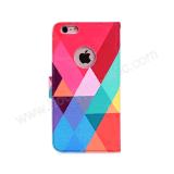 iPhone 7 Geval van Kickstand van de Riem van de Hand van het Ontwerp van de Dekking van het Leer het Kleurrijke