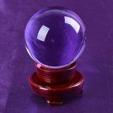 El tamaño grande de 80 mm 90mm bola de cristal azul del vidrio del color