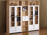 Gabinete de madeira dobro antigo da tevê para a mobília da sala de visitas (HX-LS020)