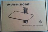 Parete Mount/DVD Sheif di vetro Tempered DVD