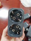 двухсторонний электрический EU переходники 230/250V белый/чернота (P8812)