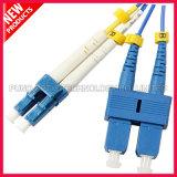 cable óptico de la fibra unimodal a dos caras del SC LC de 3.0m m