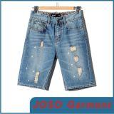 Краткости джинсовой ткани мытья света людей (JC3066)