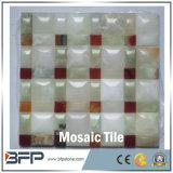 Mattonelle di marmo bianche/gialle di nuovo stile personalizzato di mosaico per la parete ed il pavimento