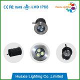 円形3W地下ライト、LED Inground軽いIP68、LEDはランプの屋外の照明を埋めた