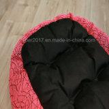 Двойная чернота цвета и розовая французская кровать любимчика для собак