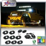 Accesorios directos del coche de la fábrica Color verde 9W CREE Chip 9-32V IP68 Undercar Light Luz de Decoración para Toyota Toyo Jeep Wrangler Tj / Cj / Jk / Fj Barco Camión