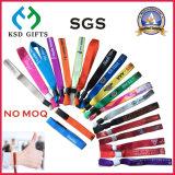 Punti promozionali su ordinazione a buon mercato tessuti un Wristband di uso di volta