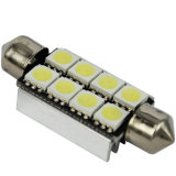 Bulbo do diodo emissor de luz do festão do branco 5050-8SMD-41mm C5with da luz do carro do diodo emissor de luz de Canbus
