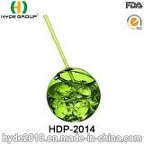 16oz het Drinken van BPA de Vrije Plastic Kop van de Bal met Stro (hdp-2014)