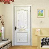 Porta interior interna branca cinzelada costume da madeira contínua do quarto (GSP2-095)