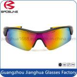 Hot Sale Wrap Around Black Temple com pontas amarelas Mens Ciclismo Goggle Custom Marcas Elegante Pesca Running Driving Sunglasses