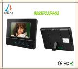7インチTFTのタッチ画面カラーLCDビデオドアの電話ドアベルによってワイヤーで縛られるビデオ通話装置3のモニタ