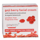 Retinol de creme facial Botanicals orgânico Qiansoto do ácido hialurónico da baga de Goji que Whitening o creme de face