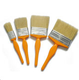 Cepillo plano de la cerda de la mezcla de la maneta plástica blanca profesional del color (GMPB008)