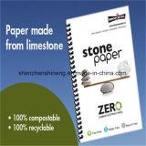 녹색 물자 돌 서류상은 인쇄를 위해 완전히 한다