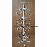 Quatro lados vendem a varejo o indicador revolvendo da cremalheira do gancho do metal do assoalho (PHY623)